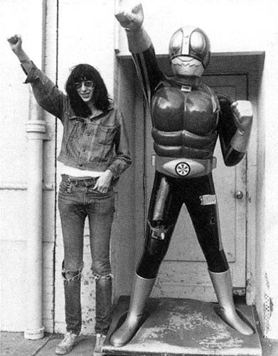 Joey Ramone And Kamen Rider